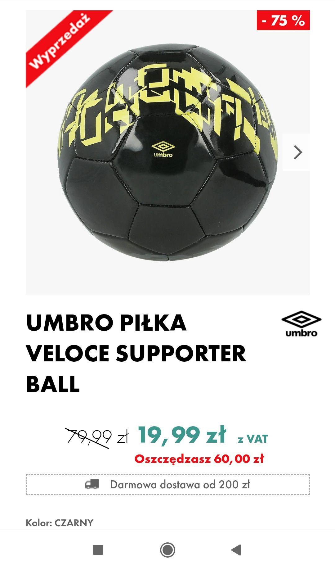 UMBRO PIŁKA VELOCE SUPPORTER BALL
