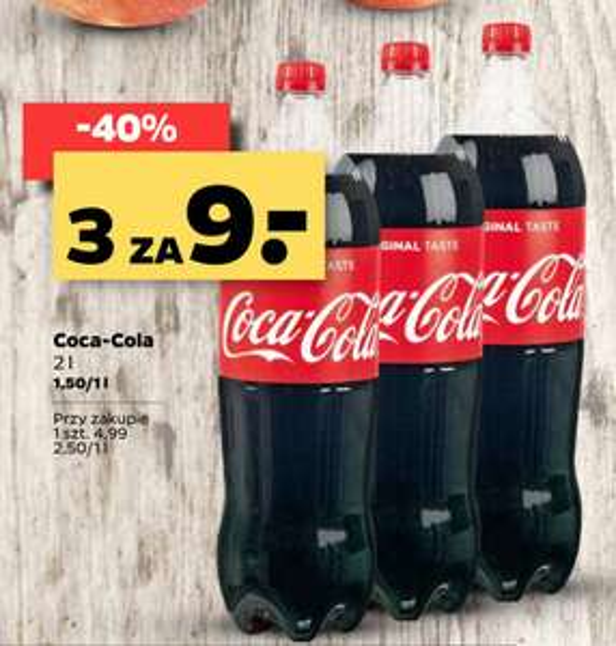 Coca-cola 3x 2l za 9zł, Netto, 15-20.07 (coca cola)