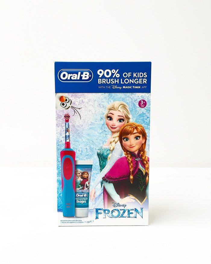 Szczoteczka elektryczna dla dziecka Oral-b Frozen + pasta Carrefour online