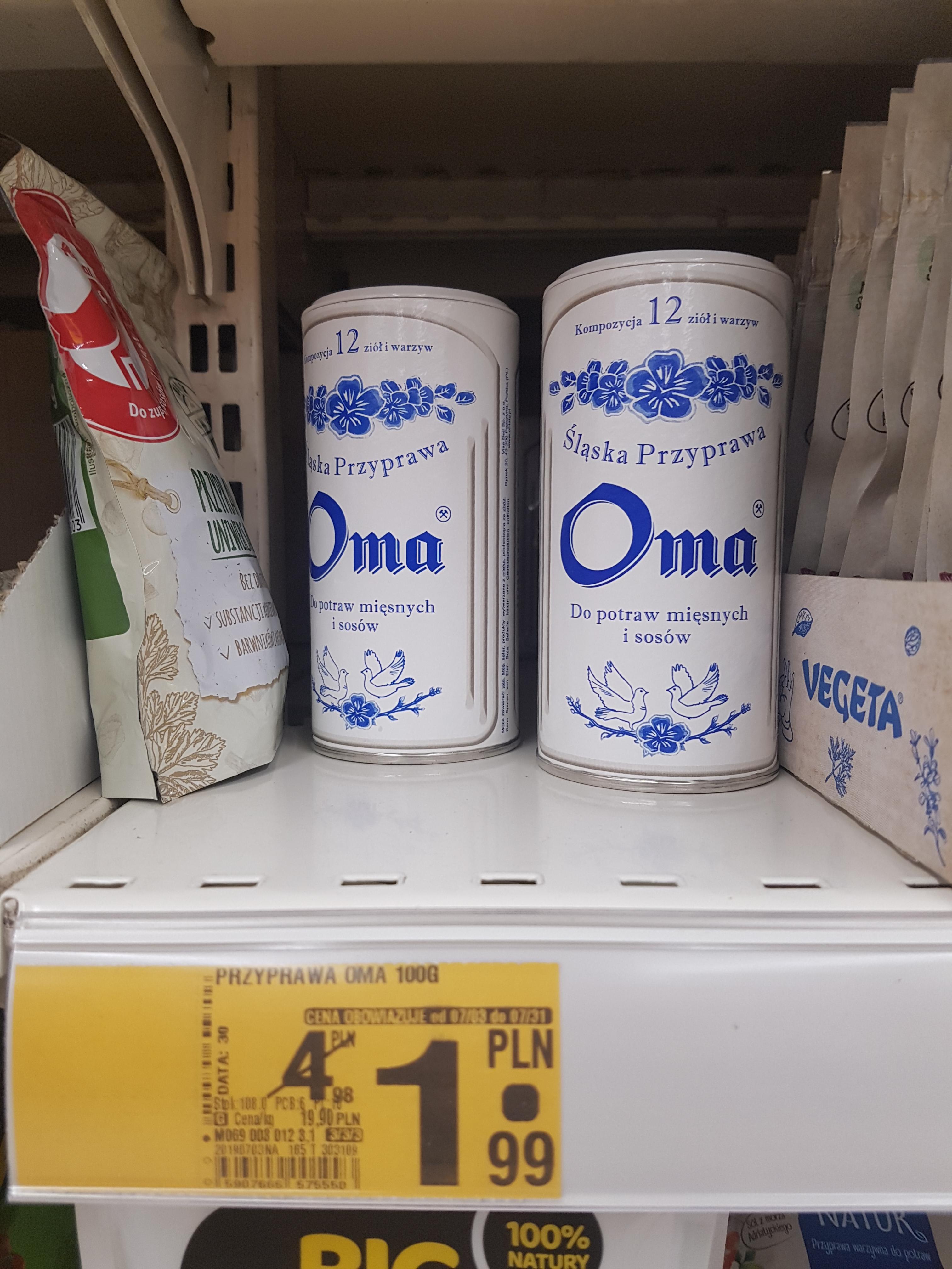 Śląska przyprawa OMA 100g w Auchan Wola Park