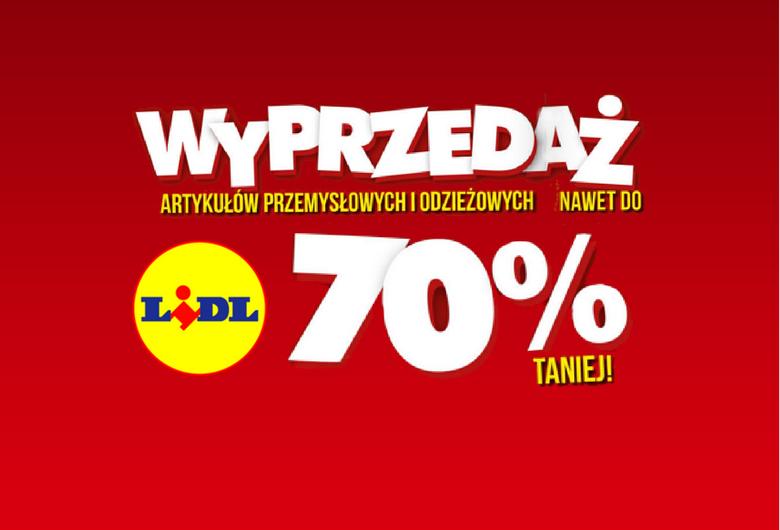 Wielka wyprzedaż do 70% w sklepie internetowym LIDL