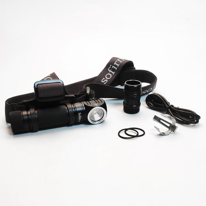 Latarka (czołówka) Sofirn SP40, 1200 lumenów, micro USB i dodatkowa tuba 18350