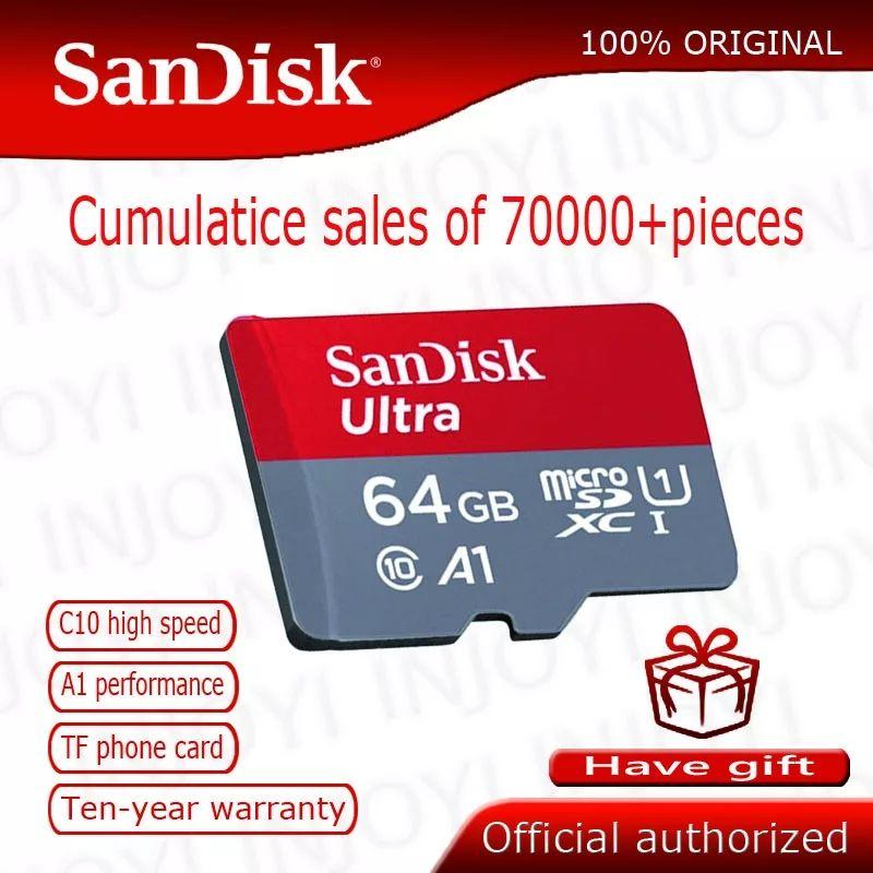 Karta SanDisk 64GB z Aliexpress.