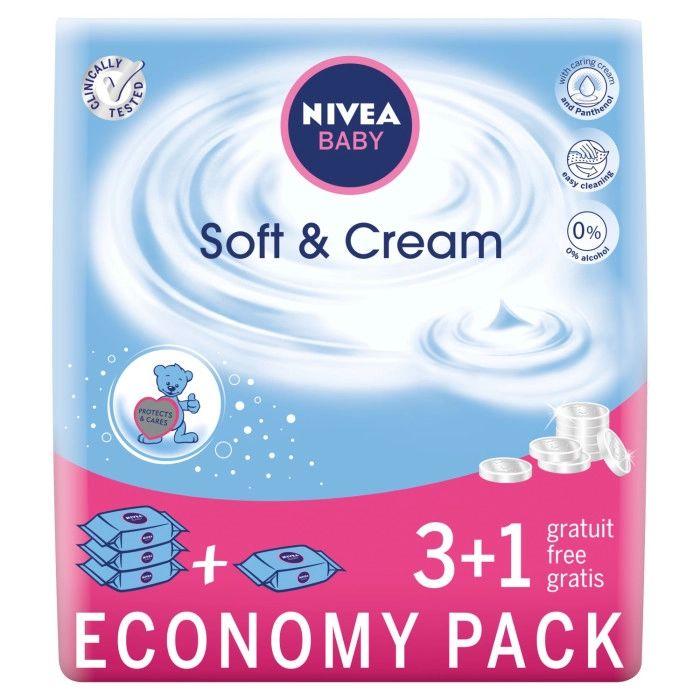 12 opakowań chusteczek nawilżanych Nivea Soft&Cream za 49,97 zł (4,16 zł za 1 opakowanie)