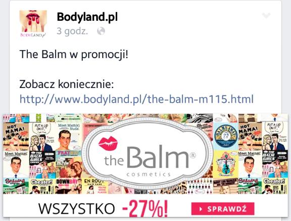 -27% na wszystkie kosmetyki The Balm!