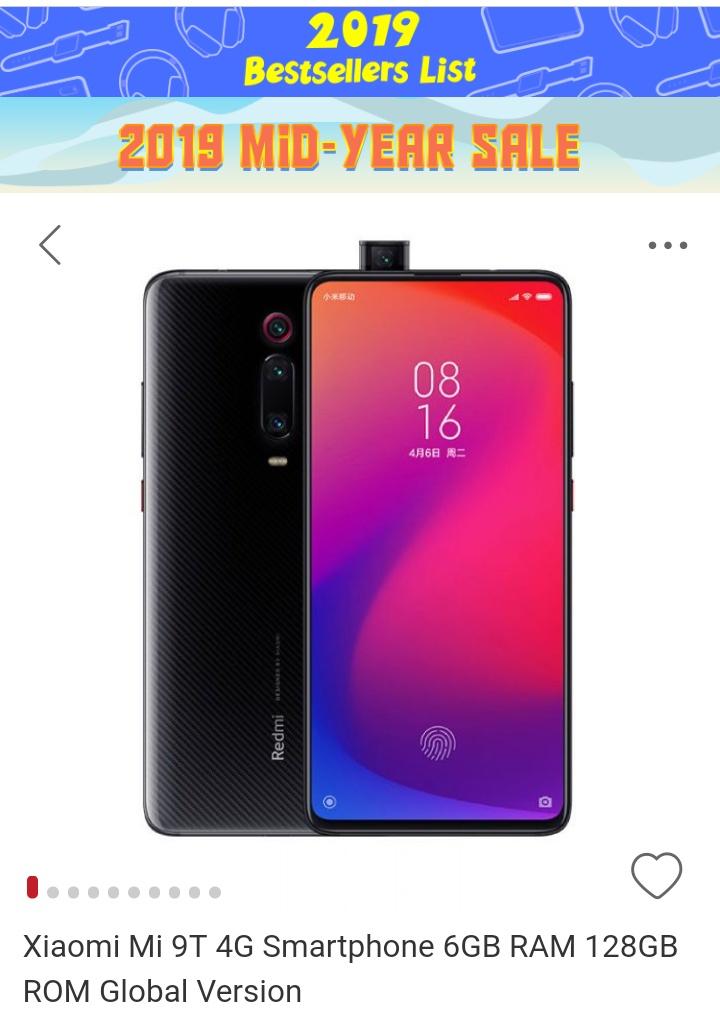 Xiaomi Mi9T 128 GB 1200zł