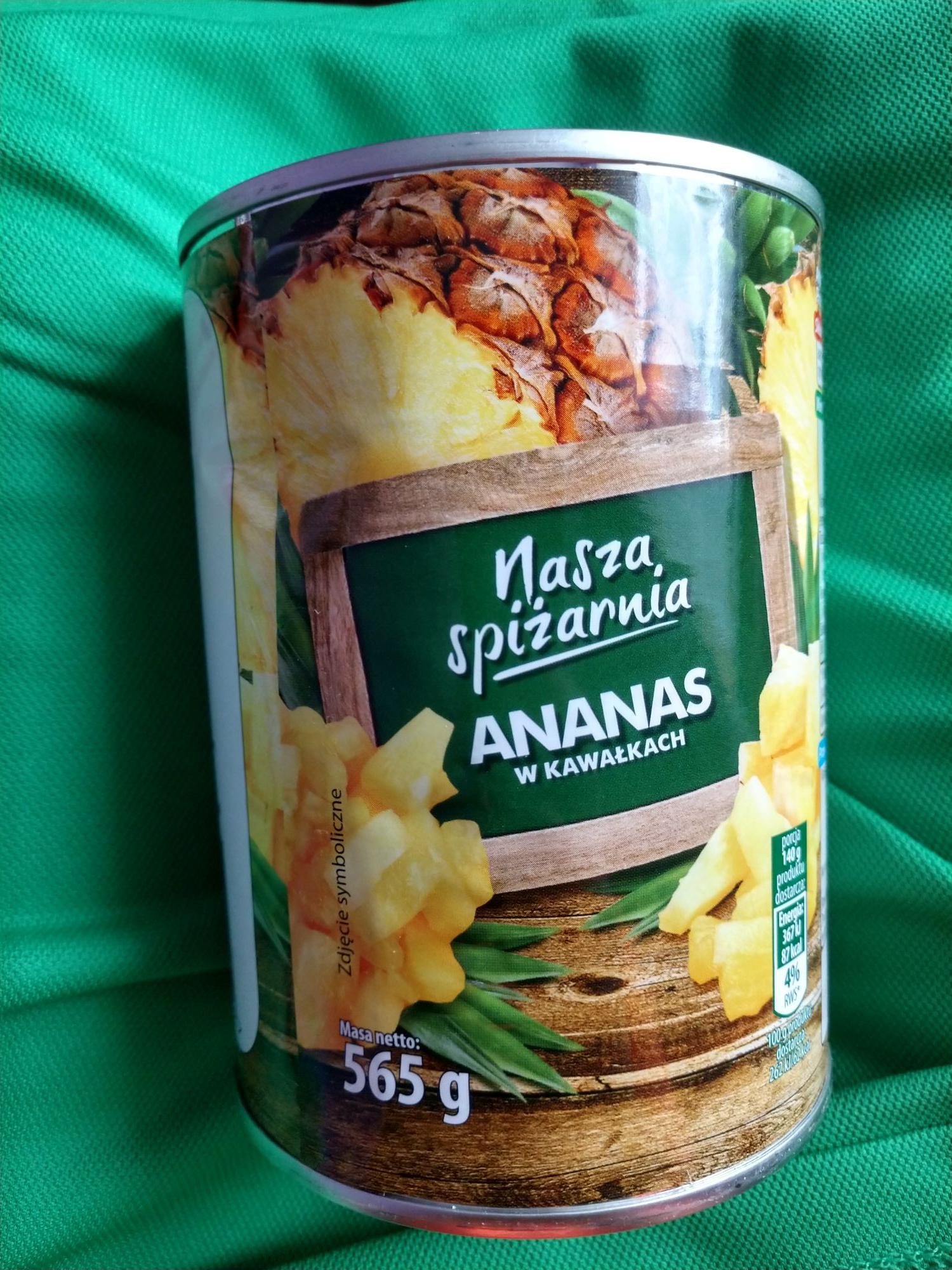 Ananas w kawałkach Biedronka Toruń, ul. Dziewulskiego 43