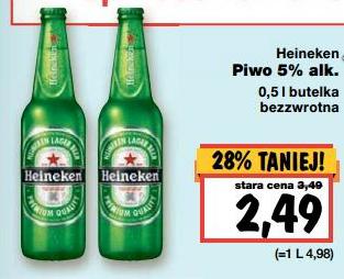 Heineken 5% alk. 0,5l butelka bezzwrotna @Kaufland