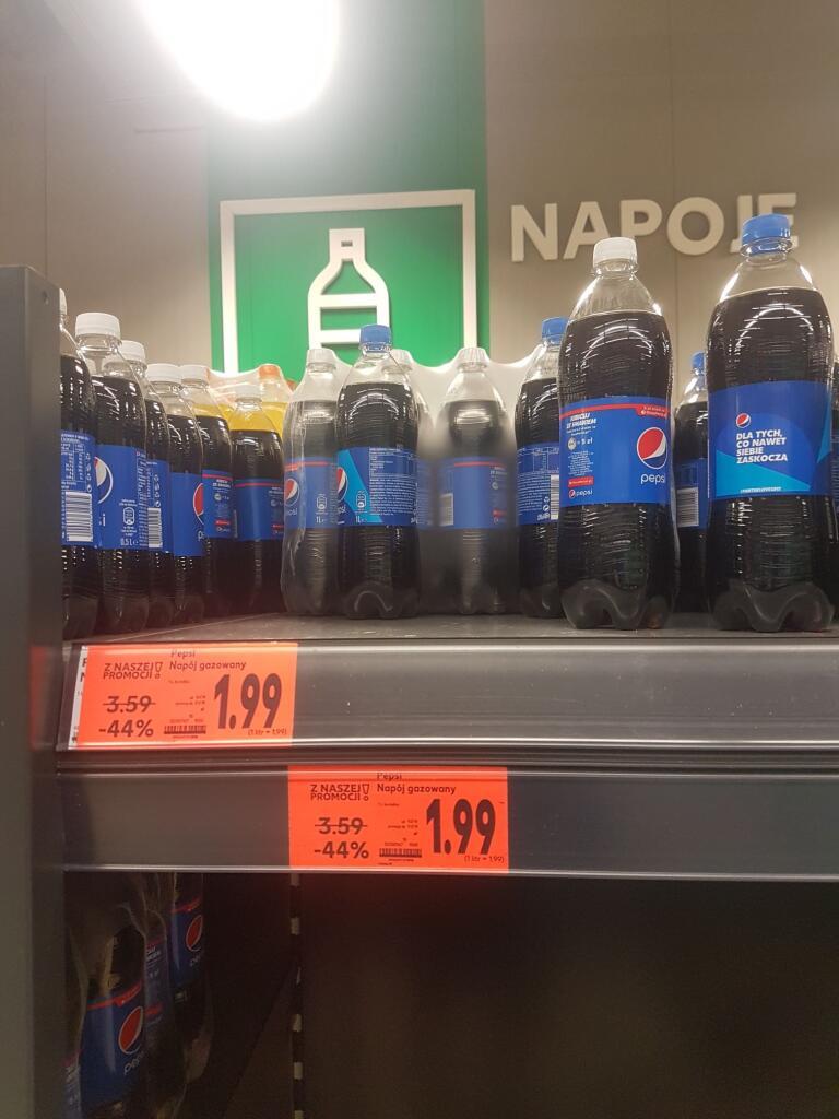 Pepsi oraz smaki Wild Cherry,Max,Lime,Vanilla 1L Kaufland !