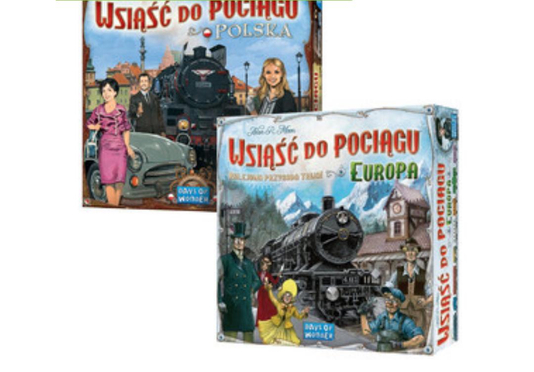 Wsiąść do pociągu Europa + mapa Polski