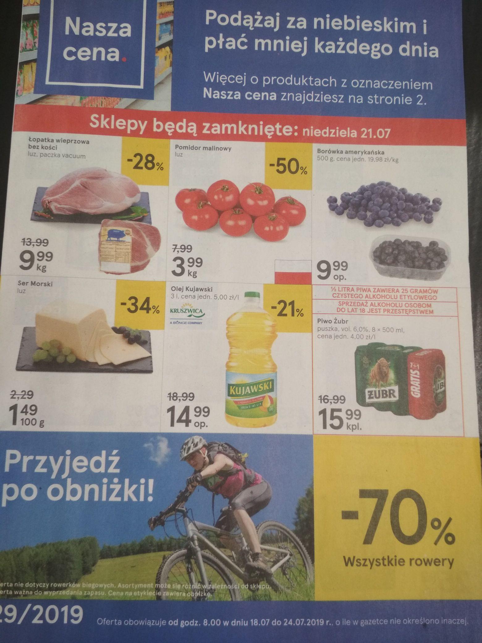 Wszystkie rowery w Tesco -70%