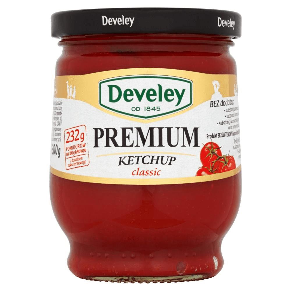 2 słoiczki Ketchupu Develey Klasyczny i Pikantny Premium 300 g, bi1 od 17lipca
