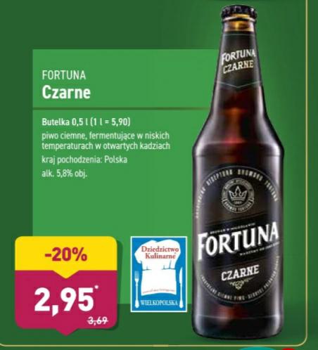 Piwo Fortuna Czarne 0,5l Aldi