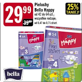 Pieluszki Bella Happy za 29,99zł @ Stokrotka