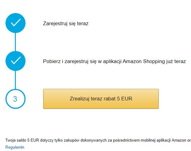 Amazon różne - bonus $ € £ za pierwsze użycie aplikacji z kontem prime