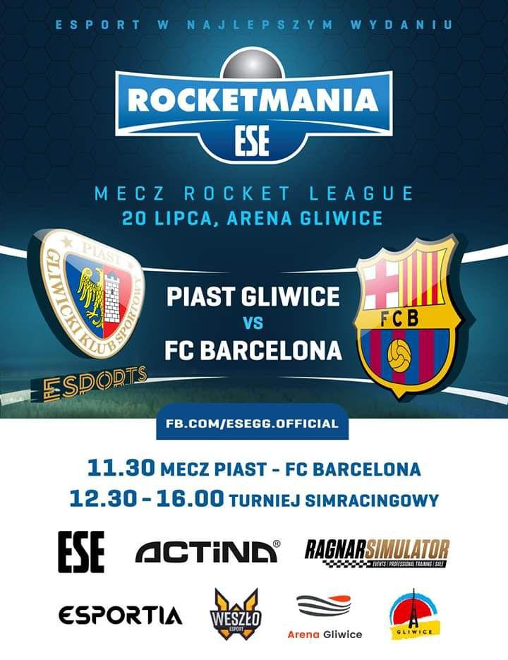 [Gliwice] Piast Gliwice Esports vs FC Barcelona na Arenie Gliwice! Za darmo