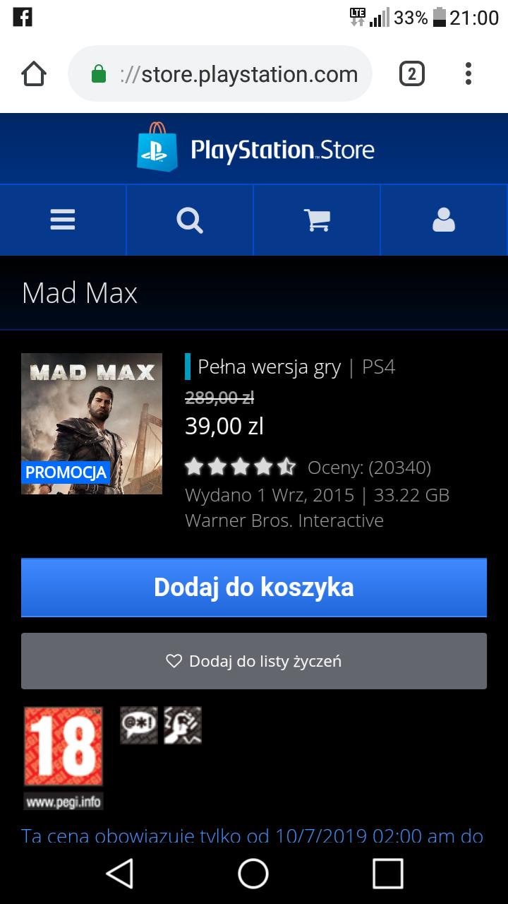 Mad max na ps4