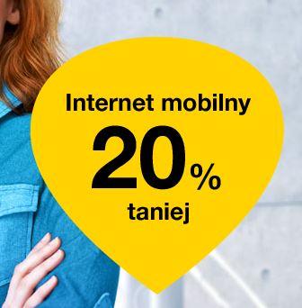 Abonament na internet mobilny w Orange 20% taniej (działa także na inne abonamenty!)