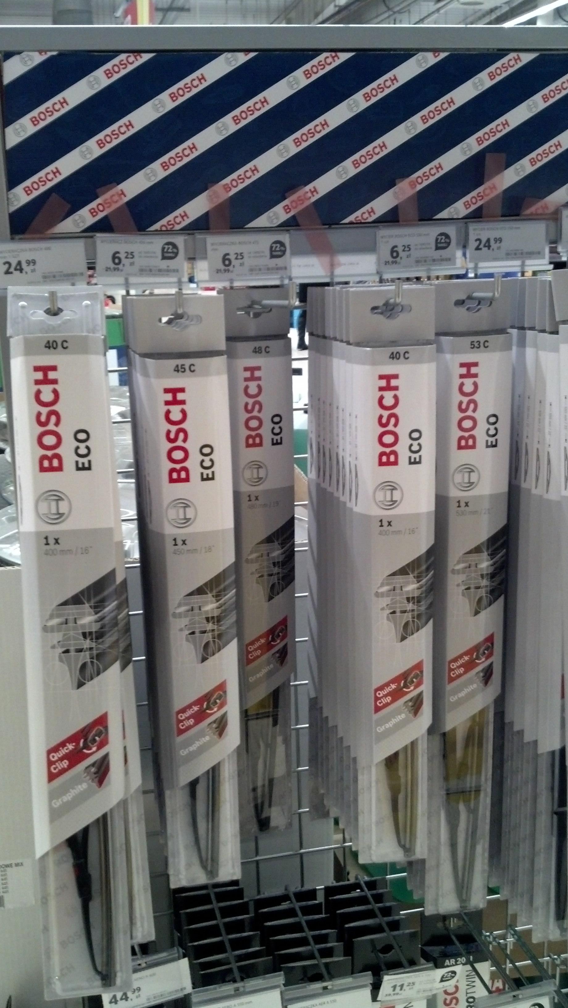 Tesco - Wycieraczki Bosch ECO - przecena 70% na wybrane rozmiary (Gorzów Wlkp.)