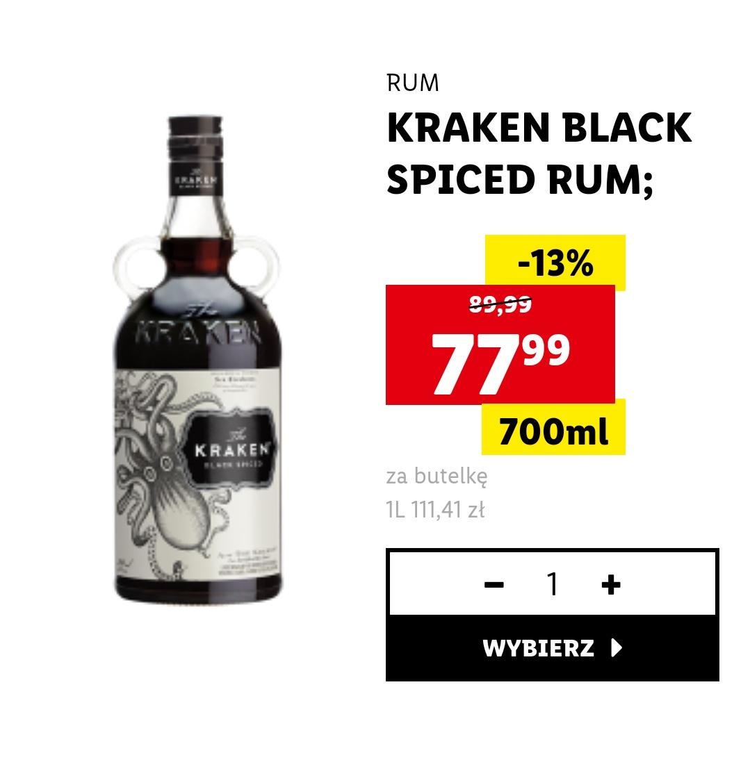 Rum Kraken spiced black  0.7L 40% Winnica Lidla