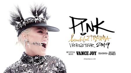 P!NK i Vance Joy - bilety na koncert 20.07 (sobota) Warszawa