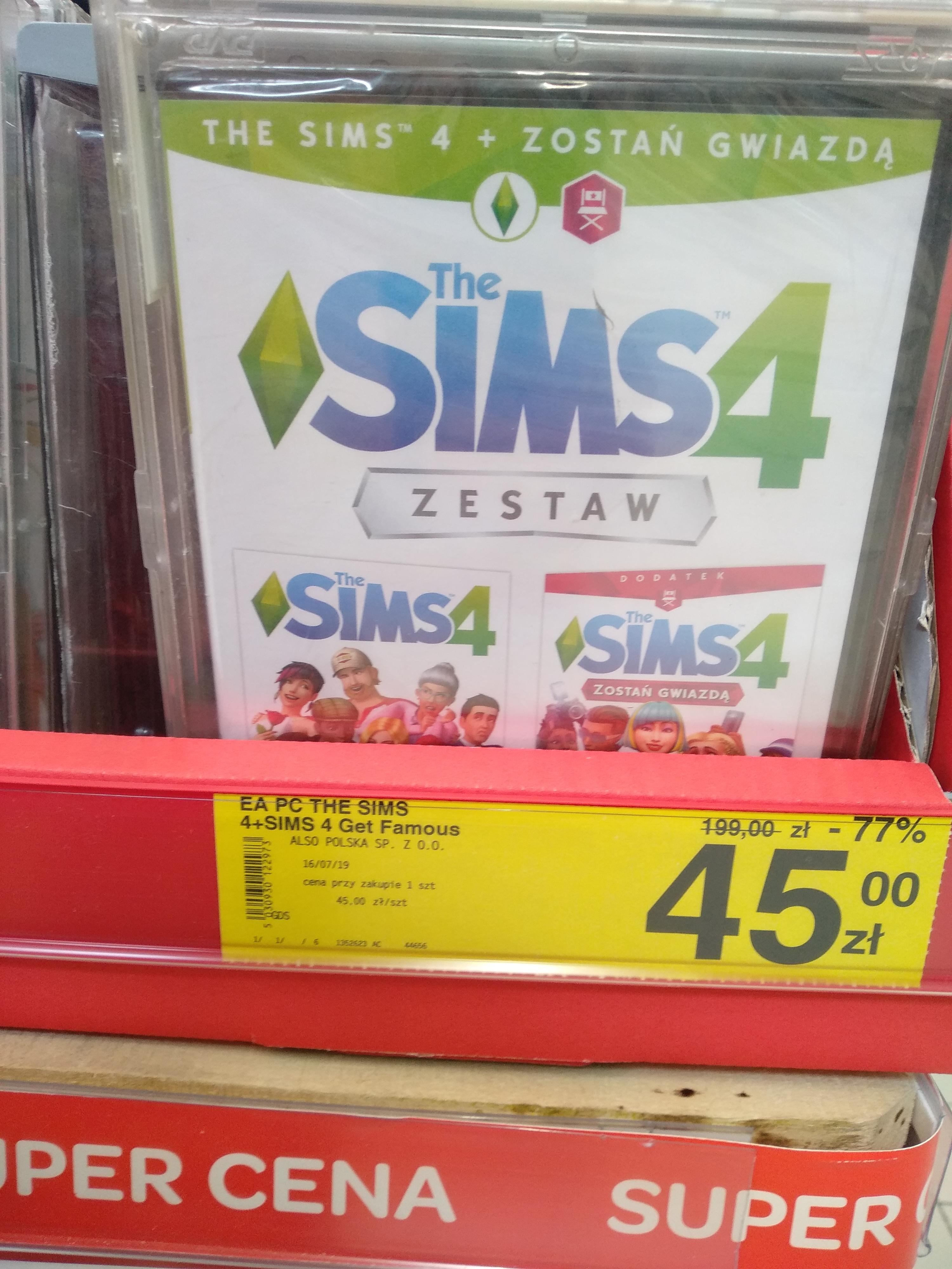 Gry EA Sims 4 + Zostań Gwiazdą (i inne Fifa 18 PC XBoX One PS4 / NFS Payback PC) CARREFOUR (fotki z Olsztyna)