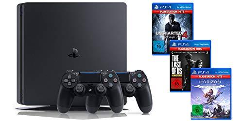 [Prime] PlayStation 4 Slim 1TB + 2x DualShock 4 + 3 gry z kolekcji PlayStation Hits