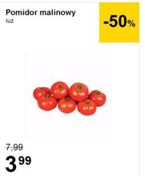 Pomidory malinowe LUZ, TESCO