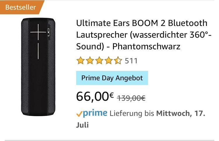 Ultimate Ears Boom 2 Dla Nowych użytkowników Amazon Prime
