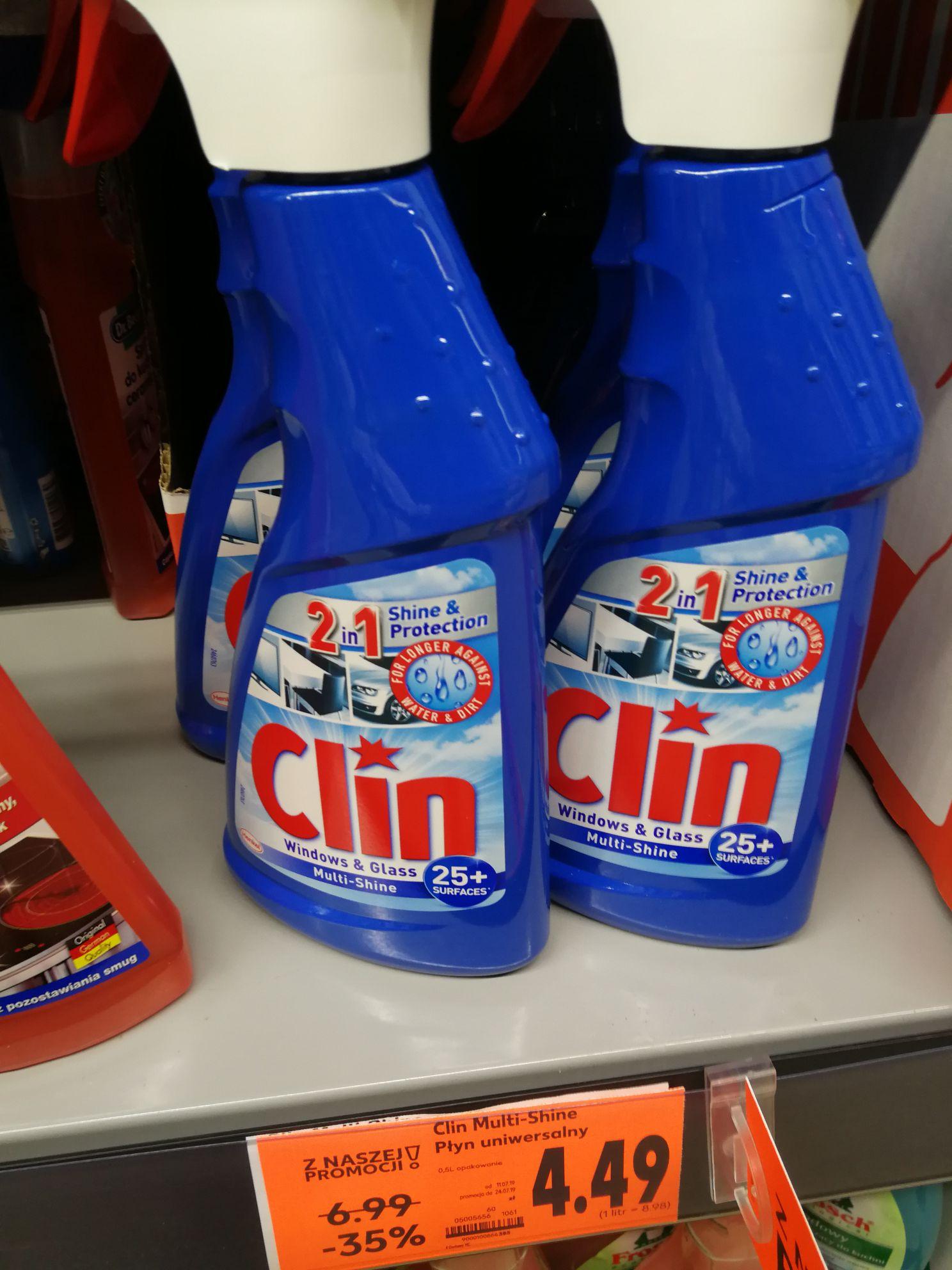 CLIN płyn do mycia szyb 500 ml, wszystkie rodzaje. Kaufland