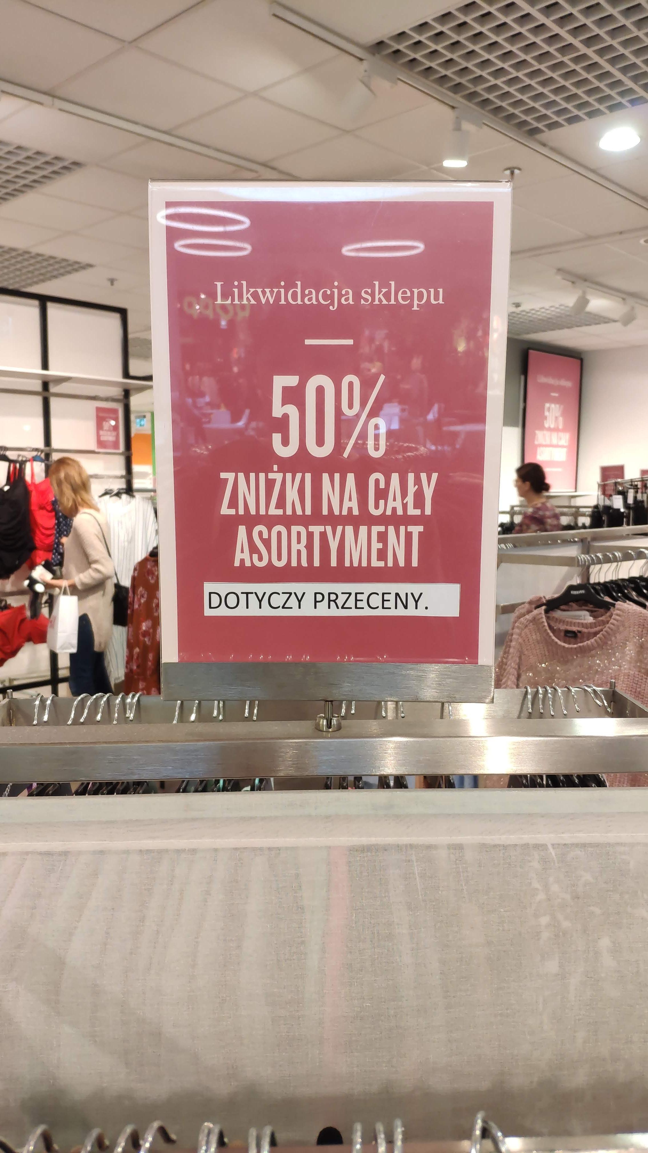 Likwidacja Kappahl w Centrum Handlowym Turzyn w Szczecinie - wszystko -50%