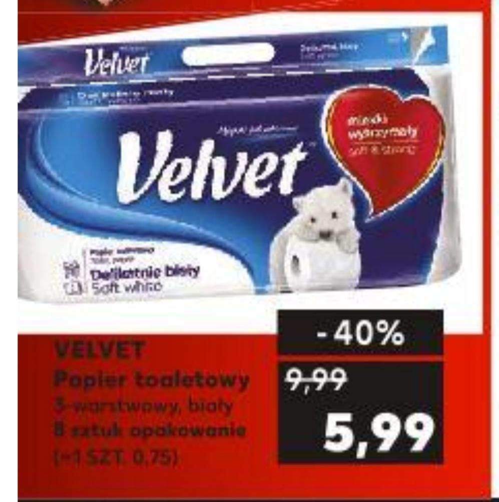 Velvet papier toaletowy 3-warstwowy biały 8 sztuk opakowanie@Kaufland 22.07-24.07
