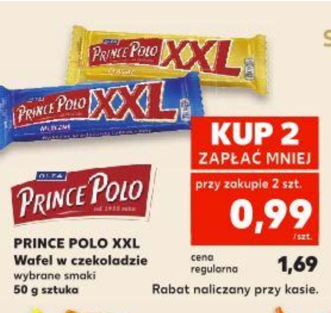 Prince Polo XXL wybrane smaki,cena przy zakupie dwóch szt.@ Kaufland 18.07-24.07