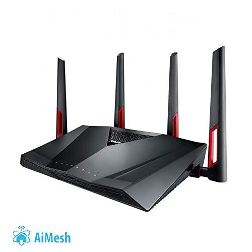 ASUS AiMesh RT-AC88U Router WiFi 5 AC3100, 8x Gigabit, Alexa, IFTTT, App, USB 3.0) Amazon PRIME