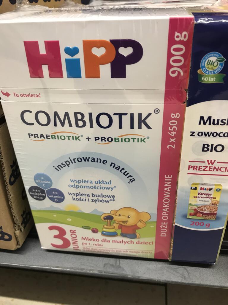 Mleko Hipp 2 i 3+ Bio musli z owocami @ Lidl Zgorzelec