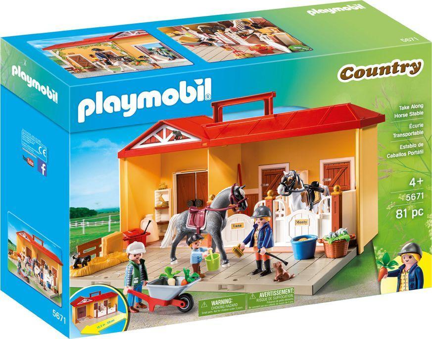 Playmobil Nowa przenośna stajnia za 65zł @ HulaHop