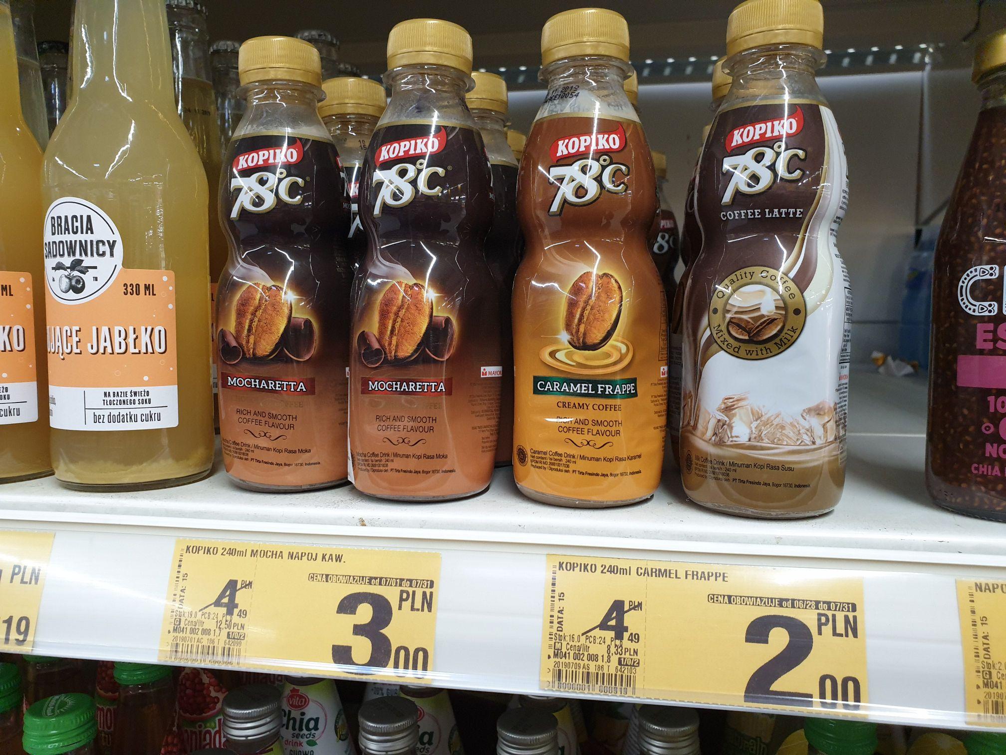 Napój kawowy Auchan kawa carmel frappe KOPIKO