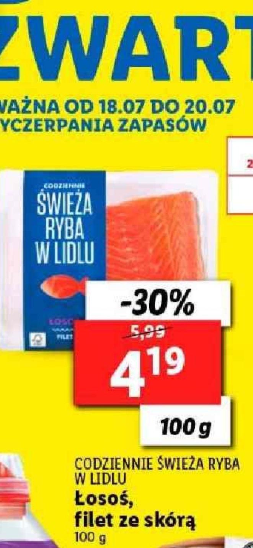 Łosoś - filet w Lidlu