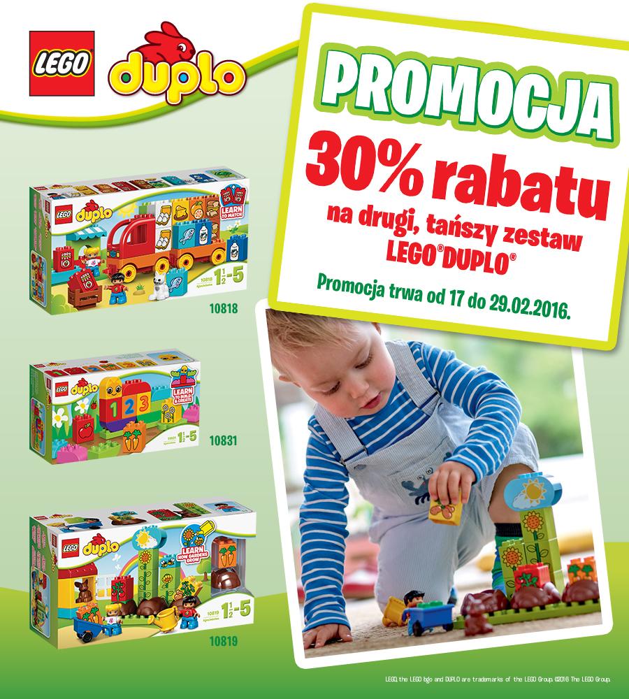 30% zniżki na drugi zestaw Lego Duplo @ Carrefour