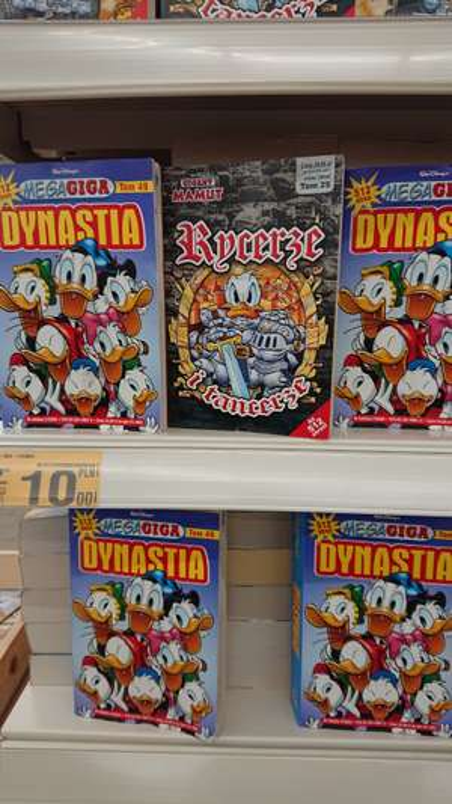 Komiksy Gigant Kaczor Donald różne rodzaje Auchan Gdańsk
