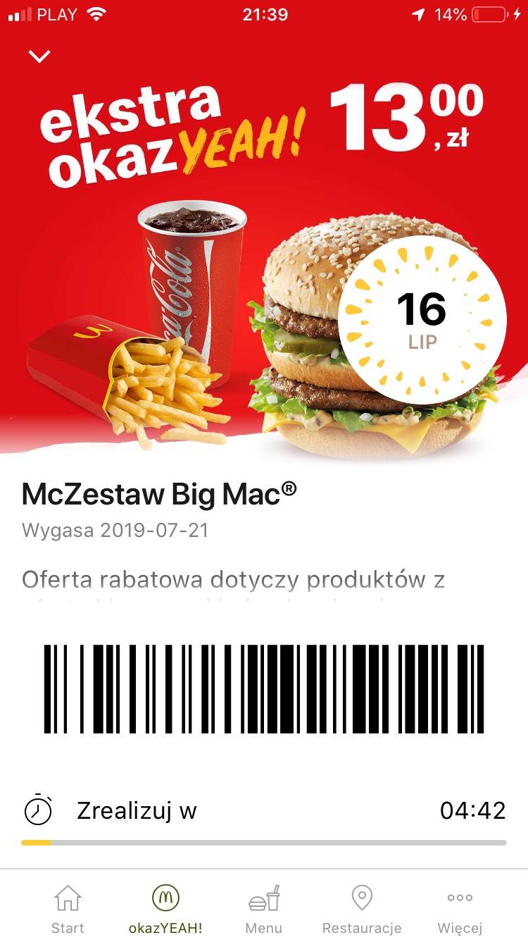Zestaw Big Mac McDonald's