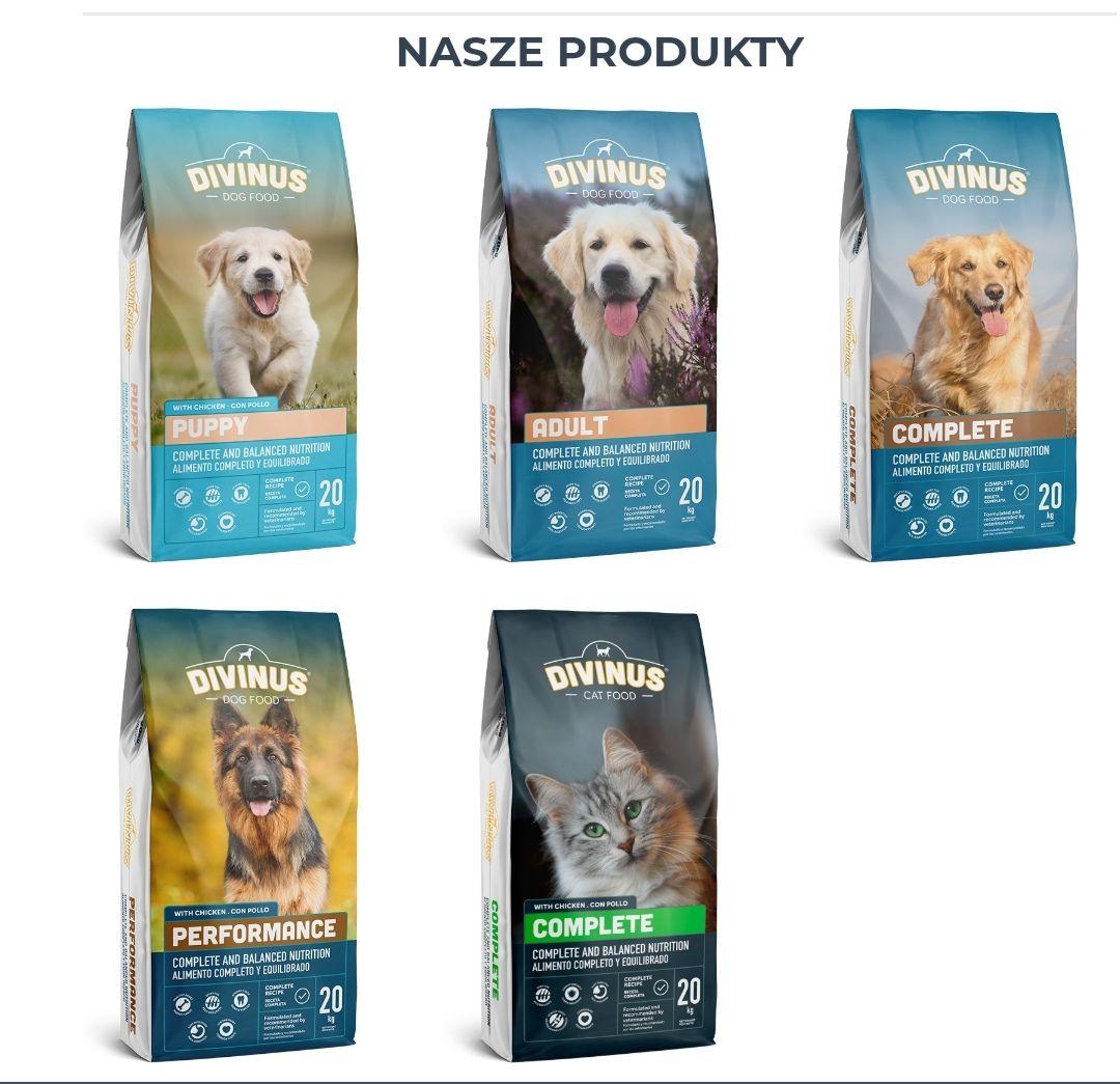 Darmowe próbki karmy dla psa Divinus 5x300g