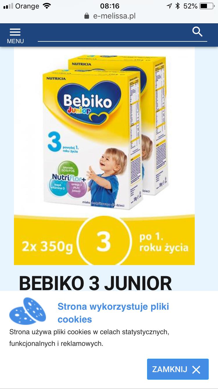 Apteka Melissa Mleko Bebiko 3 - 700 g