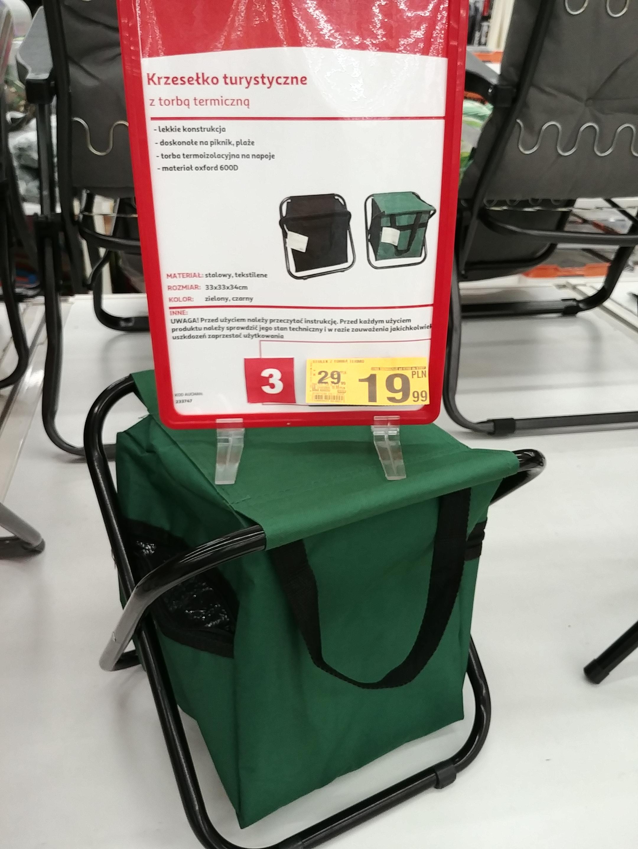 Krzesełko turystyczne z torbą termiczną (Auchan)