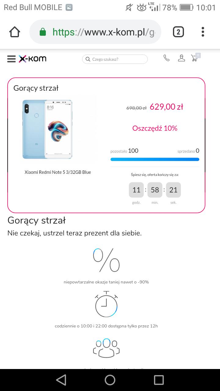 Xiaomi Redmi Note 5 3/32 Blue