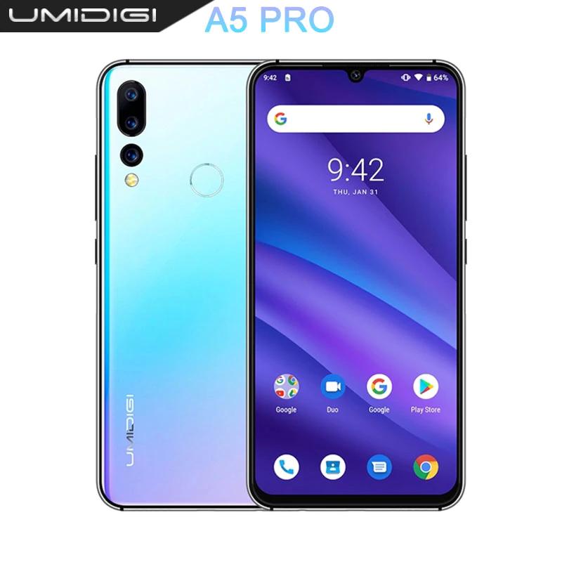 """Umidigi a5 pro Tani telefon Fullhd+ waterdrop 6,3"""" 4gb ram octacore TRZY KAMERY!"""