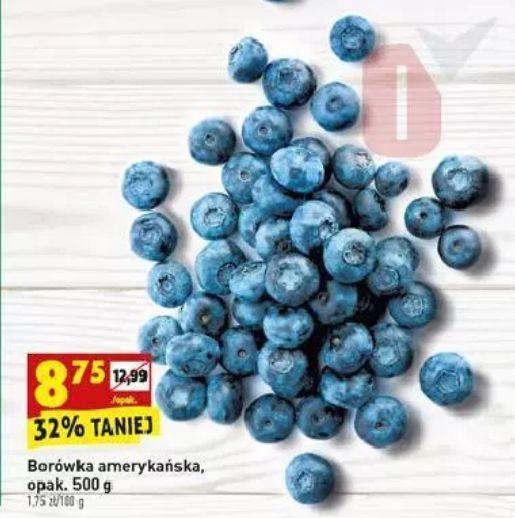 Biedronka Borówki amerykańskie 8,75zł / 500g