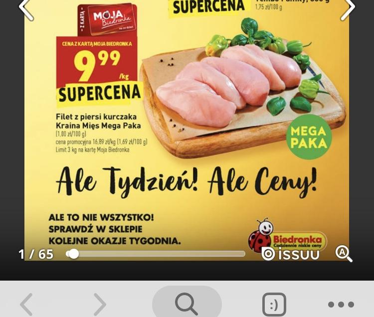 Filet z piersi kurczaka Kraina Mięs Mega Paka z kartą MB Biedronka