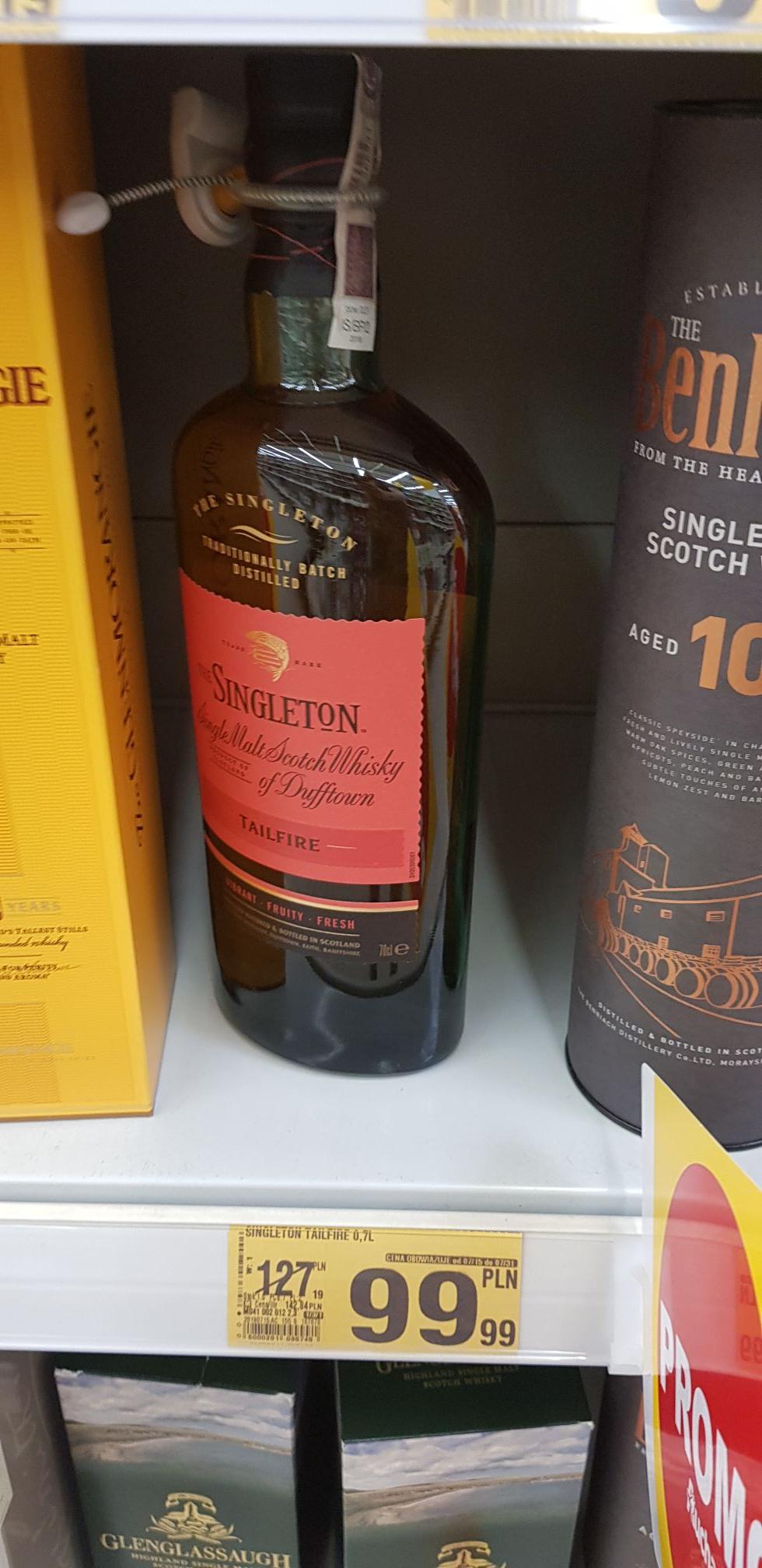 Whisky SINGLETON TAILFIRE 0,7l Auchan Słupsk