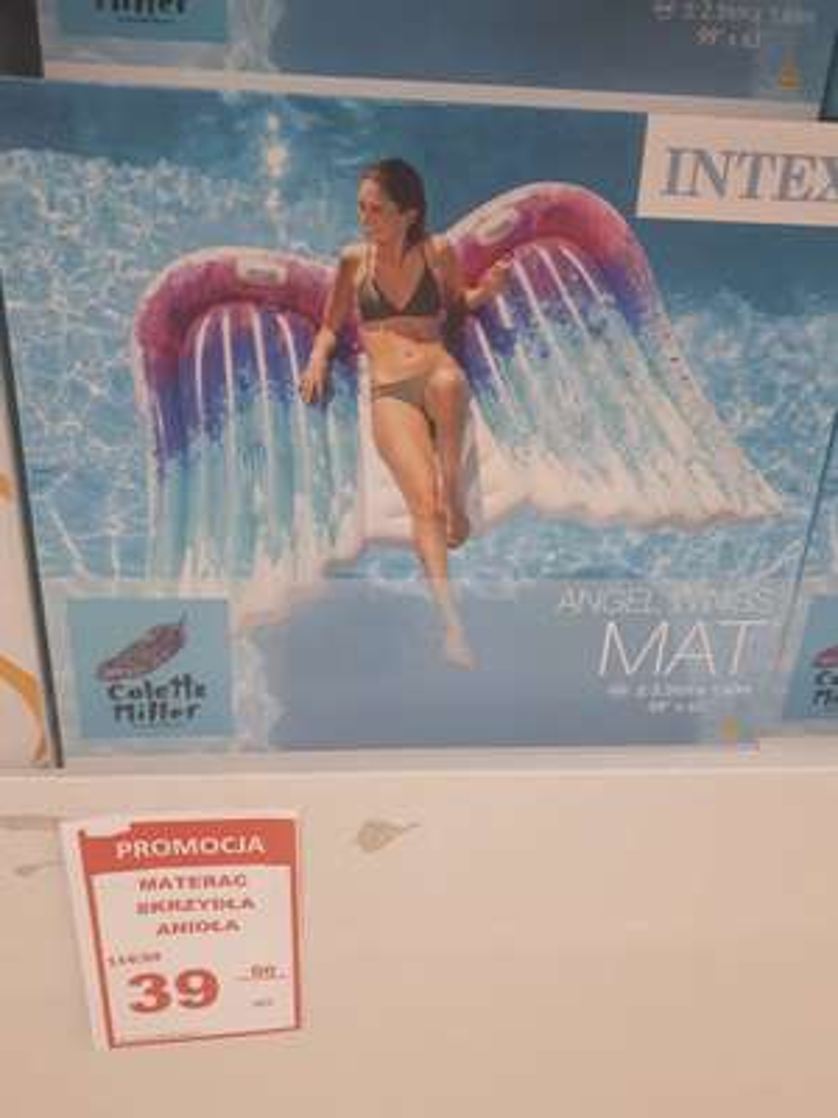 Materac skrzydła anioła w Auchan Swadzim